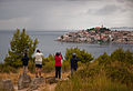 Tourists photographing Primošten, Croatia - 20110811.jpg