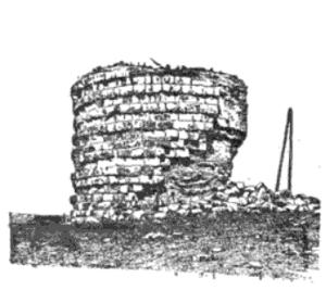 Chebba - Ruined tower of Bordj Khadidja at Ras Kaboudia.