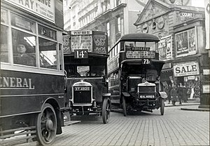 Buses in London - Early days: London General omnibuses in 1927