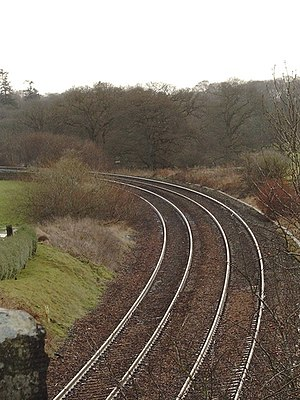 Train tracks near Auldgirth