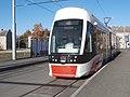 Tram 506 at Uelemiste jaam Tram Stop in Tallinn 20 October 2015.jpg