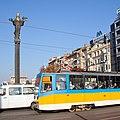 Tram in Sofia near Sofia statue 2012 PD 041.jpg