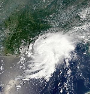 2002 Atlantic hurricane season - Image: Trop Storm Bertha 2002 Modis image