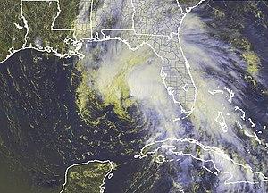 Tropical Storm Arlene (2005) - Tropical Storm Arlene near peak intensity on June 10