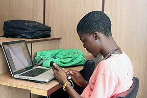 Tunde, Participant at the Wikimedia Hub Abuja, April Meetup.jpg