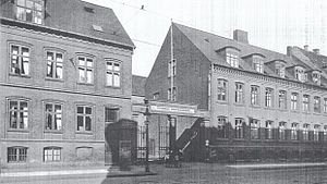 Tvedes Bryggeri - Tvede's Brewery viewed from Vesterbrogade in about 1920Kastellet