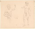 Two Male Nudes, Seated and Standing, after photographs of models by Eugène Durieu MET DP164267.jpg