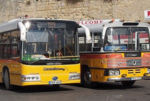 Malta bus - Malta buses, old and new