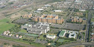 Stellenbosch University - The university's Tygerberg medical campus, viewed from the air