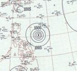 Typhoon Virginia analysis 22 Jun 1957.png
