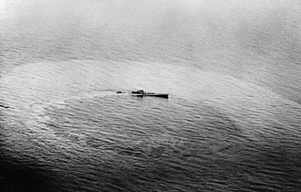 German submarine U-459 - U-459 sinking after being attacked by Vickers Wellington aircraft
