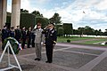 U.S. Army Gen. Martin E. Dempsey, chairman of the Joint Chiefs of Staff, and his French counterpart, Gen. Pierre de Villiers, salute after laying a wreath at the Normandy American Cemetery and Memorial in Norma 140919-D-VO565-004.jpg