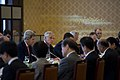 U.S. Secretary of State John Kerry, left, and U.S. Secretary of Defense Chuck Hagel, second from left, meet with Japanese Minister of Foreign Affairs Fumio Kishida and Minister of Defense Itsunori Onodera 131003-D-BW835-562.jpg