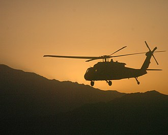 2nd Brigade Combat Team, 10th Mountain Division (United States) - A UH-60 Black Hawk helicopter carries soldiers from the 10th Mountain Division on a mission in Afghanistan.