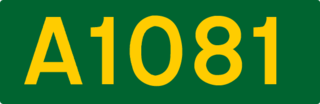 A1081 road road in Hertfordshire that broadly follows and replaces the former route of the A6 south of Luton in Bedfordshire