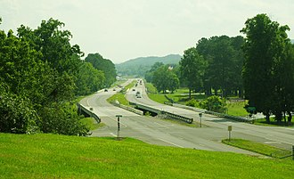 U.S. Route 27 in Tennessee - U.S. Route 27 at its Richland Creek crossings in Dayton