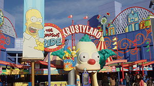 The Simpsons Ride - Entrance to the Simpsons ride at Universal Studios Hollywood.
