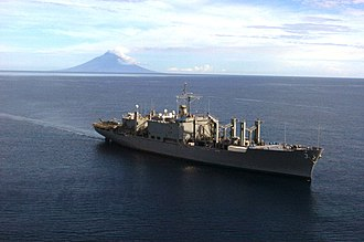 USS Niagara Falls (AFS-3) - USNS Niagara Falls off the coast of Badang, 2005