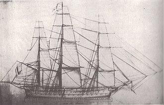 USS Columbus (1819) - Image: USS Columbus master sailmaker's plan