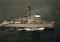 USS Gallant (MSO-489) underway at sea on 1 August 1978 (6393001).jpg