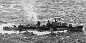USS Mansfield (DD-728) underway off Portland, Maine (USA), on 14 April 1944 (19-N-63514)