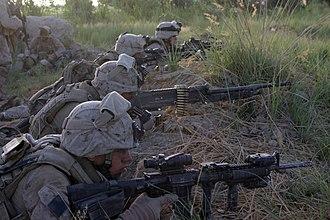 Coalition combat operations in Afghanistan in 2008 - U.S. Marines in Garmsir.