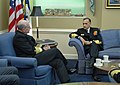 US Navy 050322-N-2383B-150 Adm. Vern Clark, Chief of Naval Operations (CNO) conducts an office call with visiting Adm. Arun Prakash, Chairman, Chief's of Staff Committee.jpg