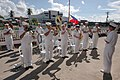 US Navy 060617-N-3153C-018 The U.S. Navy Show Band performs during the closing ceremonies at Bangao Hospital.jpg