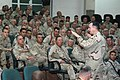 US Navy 061222-N-1625W-003 The Chief of Naval Operations (CNO) Adm. Mike Mullen speaks to Seabees, Corpsman, and Marines at the base chapel onboard Camp Fallujah.jpg