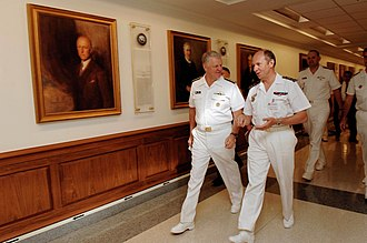 Pierre-François Forissier - Image: US Navy 080923 N 8273J 112 Chief of Naval Operations (CNO) Adm. Gary Roughead, left, speaks with Adm. Pierre Francois Forissier, the chief of staff of the French Navy, during a visit to the Pentagon