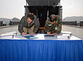 US Navy 090320-N-1083F-001 Vice Adm. John M. Bird, commander, U.S. 7th Fleet, and Vice Adm. Park Jung-hwa, commander, Republic of Korea Fleet Command, sign into effect a new maritime operational plan.jpg