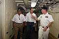 US Navy 090917-O-9999M-001 Minister of Government and Justice of Panama Jose Raul Mulino, left, and Panama Vice President and Foreign Affairs Minister Juan Carlos Varela tour the amphibious transport dock ship USS Mesa Verde (L.jpg