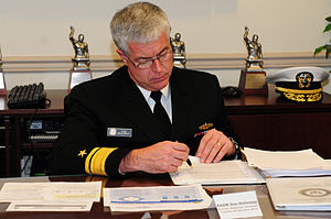 English: WASHINGTON (March 18, 2010) Rear Adm....