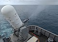 US Navy 100819-N-7680E-016 A Phalanx Close-In Weapon System (CIWS) is test-fired aboard the multi-purpose amphibious assault ship USS Iwo Jima (LHD 7). Iwo Jima is underway supporting Continuing Promise 2010, a humanitarian civ.jpg