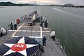 US Navy 110813-N-ZI300-048 Sailors aboard the guided-missile frigate USS Thach (FFG 43) arrive in Panama City.jpg