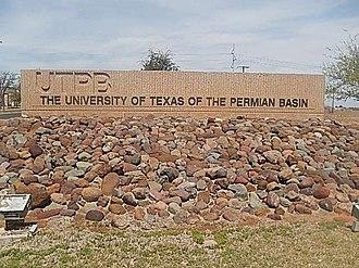 University of Texas of the Permian Basin - University of Texas of the Permian Basin entrance sign