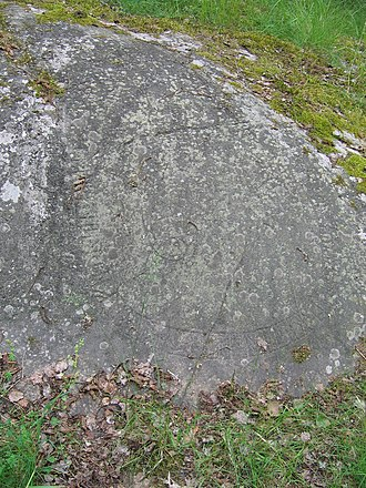 Hargs bro runic inscriptions - Like the other inscriptions at the location, U 309 was painted too long ago for any colour to remain.
