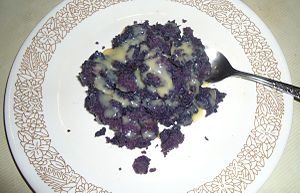 Ube halaya - Image: Ube halaya (Ube jam) with condensed milk