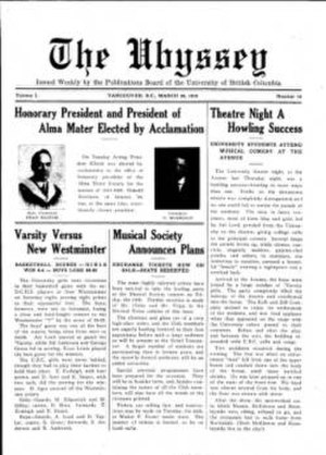 The Ubyssey - Ubyssey, March 20, 1919