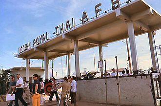 Udorn Royal Thai Air Force Base - Main Gate, Udorn RTAFB, 1973
