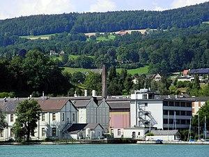 Uetikon - Chemische Fabrik - Zürichsee - Dampfschiff Stadt Zürich 2012-07-22 16-37-01 (P7000).JPG