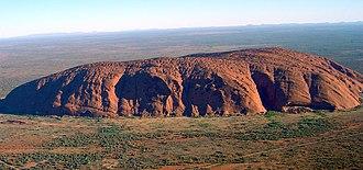Uluru - Aerial view of Uluru