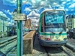 Un Alstom TFS du Tramway 1 et un Citadis 302 du Tramway 8 en gare de Saint-Denis.jpg