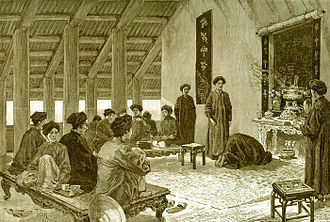 Traditional Vietnamese wedding - The figure at the wedding ceremonies of Central Vietnam in 1894