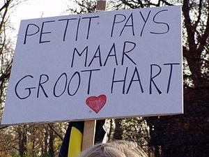 Demonstration in Brussels, Sunday, November 18...