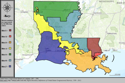 United States Congressional Districts in Louisiana, 1995 – 1996.tif