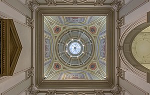 University of Vienna - Dome of the main building seen from the Ferstl-vestibule in front of Main Ceremonial Chamber