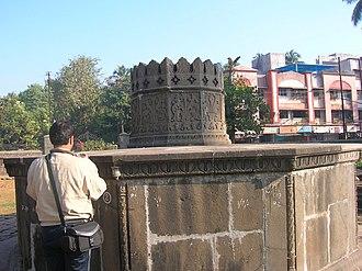 Chaul - The samadhi (mausoleum) of Maratha Koli Admiral Kanhoji Angre at Alibag