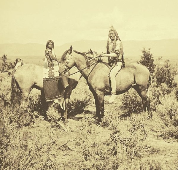 Utes along White River - Jack Hillers - 1873
