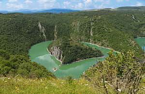 Uvac Special Nature Reserve - Image: Uvac canyon 2